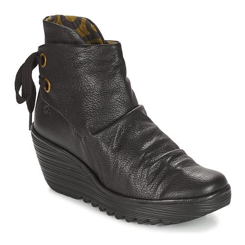 Chaussures Femme Bottines Fly London YAMA Noir