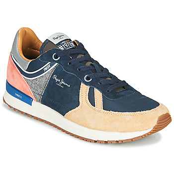Chaussures Homme Baskets basses Pepe jeans TINKER PRO 73 Marine / Marron