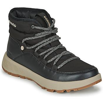 Chaussures Femme Bottes de neige Columbia SLOPESIDE VILLAGE OMNI HEAT MID Noir