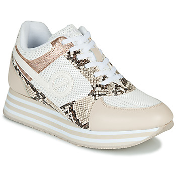 Chaussures Femme Baskets basses No Name PARKO JOGGER Blanc / Rose