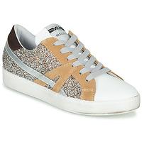 Chaussures Femme Baskets basses Meline IN1344 Blanc / Beige / Doré