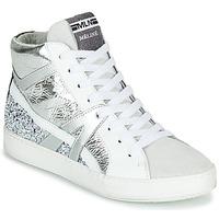 Chaussures Femme Baskets montantes Meline  Blanc / Argent