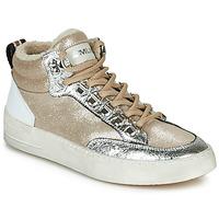 Chaussures Femme Baskets montantes Meline STRA5056 Beige / Doré