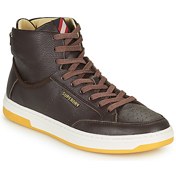 Chaussures Homme Baskets montantes Superdry PREMIUM BASKET LUX TRAINER Marron