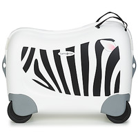 Sacs Enfant Valises Rigides Sammies DREAM RIDER ZEBRA ZENO Blanc