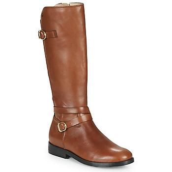Chaussures Fille Bottes ville Acebo's 9863-CUERO-T Marron