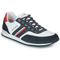 Chaussures Homme Baskets basses Tommy Hilfiger ICONIC MATERIAL MIX RUNNER Blanc / Bleu / Rouge