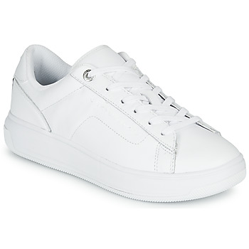 Chaussures Femme Baskets basses Tommy Hilfiger LEATHER TOMMY HILFIGER CUPSOLE Blanc