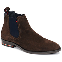 Chaussures Homme Boots Tommy Hilfiger SIGNATURE HILFIGER SUEDE CHELSEA Marron