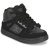 Chaussures Enfant Baskets montantes DC Shoes PURE HIGH-TOP Noir / Gris