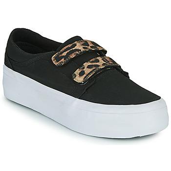 Chaussures Femme Baskets montantes DC Shoes TRASE PLATEFORM V Noir / Leopard