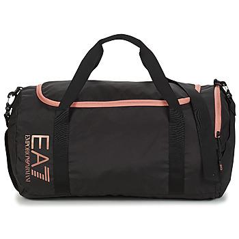Sacs Femme Sacs de sport Emporio Armani EA7 TRAIN CORE U GYM BAG SMALL Noir / Rose