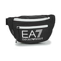 Sacs Homme Sacs banane Emporio Armani EA7 TRAIN CORE U SLING BAG Noir / Blanc