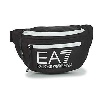 Sacs Sacs banane Emporio Armani EA7 TRAIN CORE U SLING BAG Noir / Blanc
