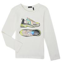 Vêtements Fille T-shirts manches longues Ikks XR10172 Blanc