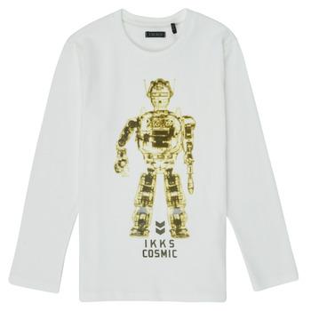 Vêtements Garçon T-shirts manches longues Ikks XR10233 Blanc