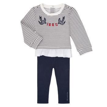 Vêtements Fille Ensembles enfant Ikks XR36030 Marine / Blanc