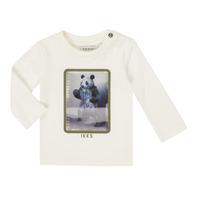 Vêtements Garçon T-shirts manches longues Ikks XR10101 Blanc