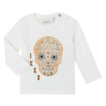 Vêtements Garçon T-shirts manches longues Ikks XR10141 Blanc