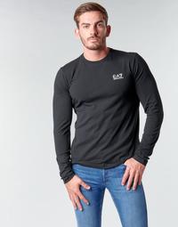 Vêtements Homme T-shirts manches longues Emporio Armani EA7 TRAIN CORE ID M TEE LS ST Noir / Logo Blanc