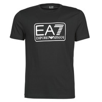 Vêtements Homme T-shirts manches courtes Emporio Armani EA7 TRAIN LOGO SERIES M TEE 1 PIMA CO Noir