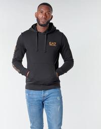 Vêtements Homme Sweats Emporio Armani EA7 TRAIN LOGO SERIES M HOODIE RN COFT Noir