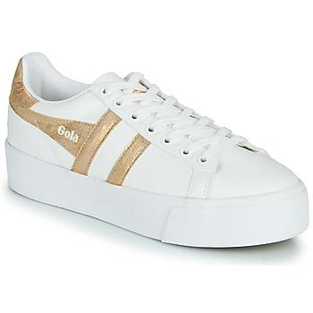 Chaussures Femme Baskets basses Gola ORCHID PLATEFORM Blanc / Doré