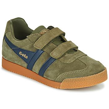 Chaussures Enfant Baskets basses Gola HARRIER VELCRO Kaki / Marine