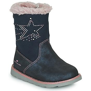 Chaussures Fille Bottes ville Tom Tailor 72307-BLEU Bleu