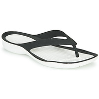 Chaussures Femme Tongs Crocs SWIFTWATER FLIP W Noir / Blanc