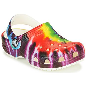 Chaussures Enfant Sabots Crocs CLASSIC TIE DYE GRAPHIC CLOG K Multicolore