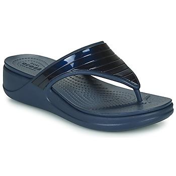 Chaussures Femme Tongs Crocs CROCSMONTEREYMETALLICSTPWGFPW Marine