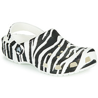 Chaussures Femme Sabots Crocs CLASSIC ANIMAL PRINT CLOG Zebre