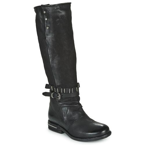 Chaussures Femme Bottes ville Airstep / A.S.98 TEAL HIGH Noir