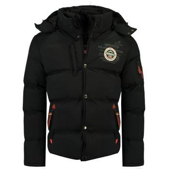 Vêtements Garçon Doudounes Geographical Norway VERVEINE BOY Noir