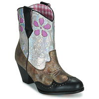 Chaussures Femme Boots Irregular Choice POLLYWOOD Marron / Argent