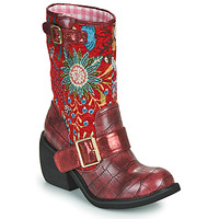 Chaussures Femme Boots Irregular Choice GREAT ESCAPE Rouge