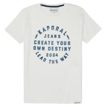 Vêtements Garçon T-shirts manches courtes Kaporal ORVAL Blanc