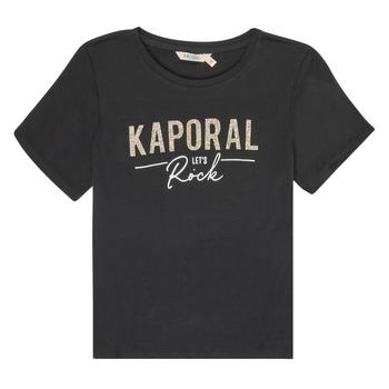 Vêtements Fille T-shirts manches courtes Kaporal MAPIK Noir
