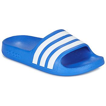 Chaussures Garçon Claquettes adidas Performance ADILETTE AQUA K Bleu / Blanc
