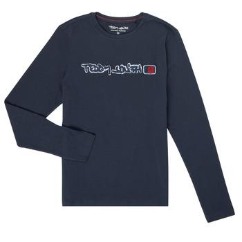 Vêtements Garçon T-shirts manches longues Teddy Smith CLAP Marine