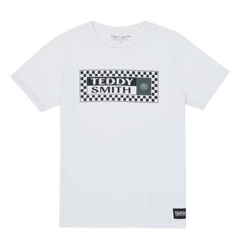 Vêtements Garçon T-shirts manches courtes Teddy Smith VANY Blanc