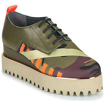Chaussures Femme Derbies United nude JUKO CALLI Kaki / Orange / Doré