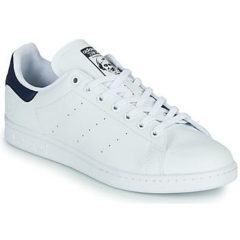 Chaussures Baskets basses adidas Originals STAN SMITH VEGAN Blanc / Bleu