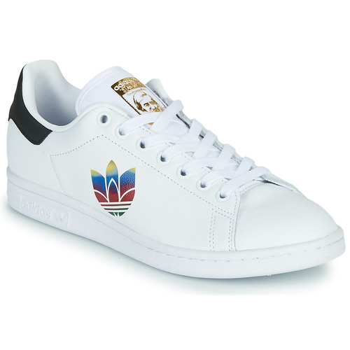 Chaussures Femme Baskets basses adidas Originals STAN SMITH W Blanc / Logo