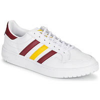 Chaussures Baskets basses adidas Originals TEAM COURT Blanc / Bordeaux / Jaune