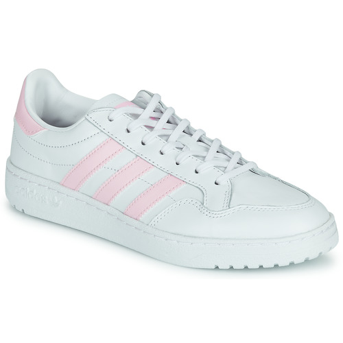 Chaussures Femme Baskets basses adidas Originals TEAM COURT W Blanc / Rose