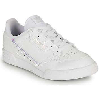 Chaussures Fille Baskets basses adidas Originals CONTINENTAL 80 C Blanc / Iridescent