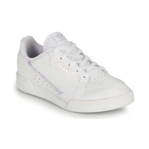 Chaussures Fille Baskets basses adidas Originals CONTINENTAL 80 C Blanc / Iridescent