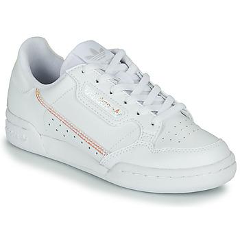 Chaussures Fille Baskets basses adidas Originals CONTINENTAL 80 J Blanc / Iridescent